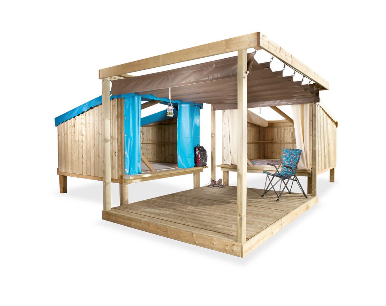 Cabane en bois Cop Camp pour un séjour ludique