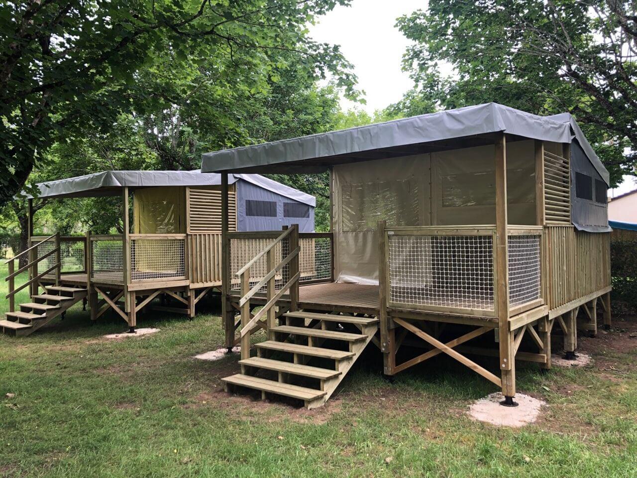 Hébergement en bois, Carrelys réalisé par Les Terrasses du Lys