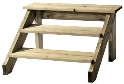 Petit marche pieds pour une terrasse en bois