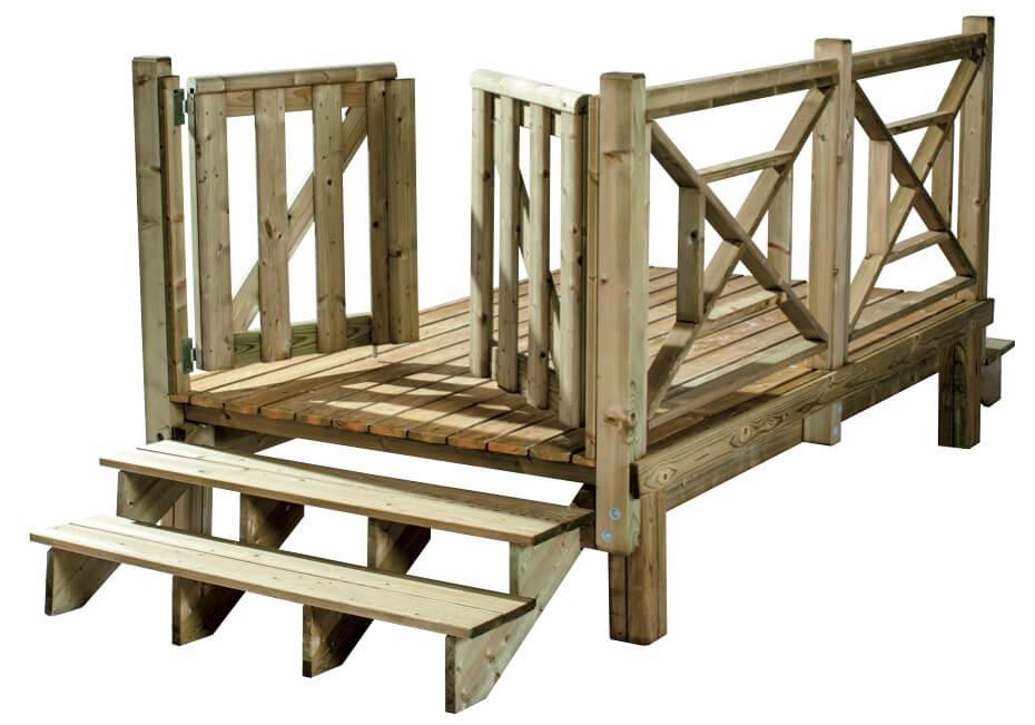 Portillon et escalier pour une terrasse sécurisée