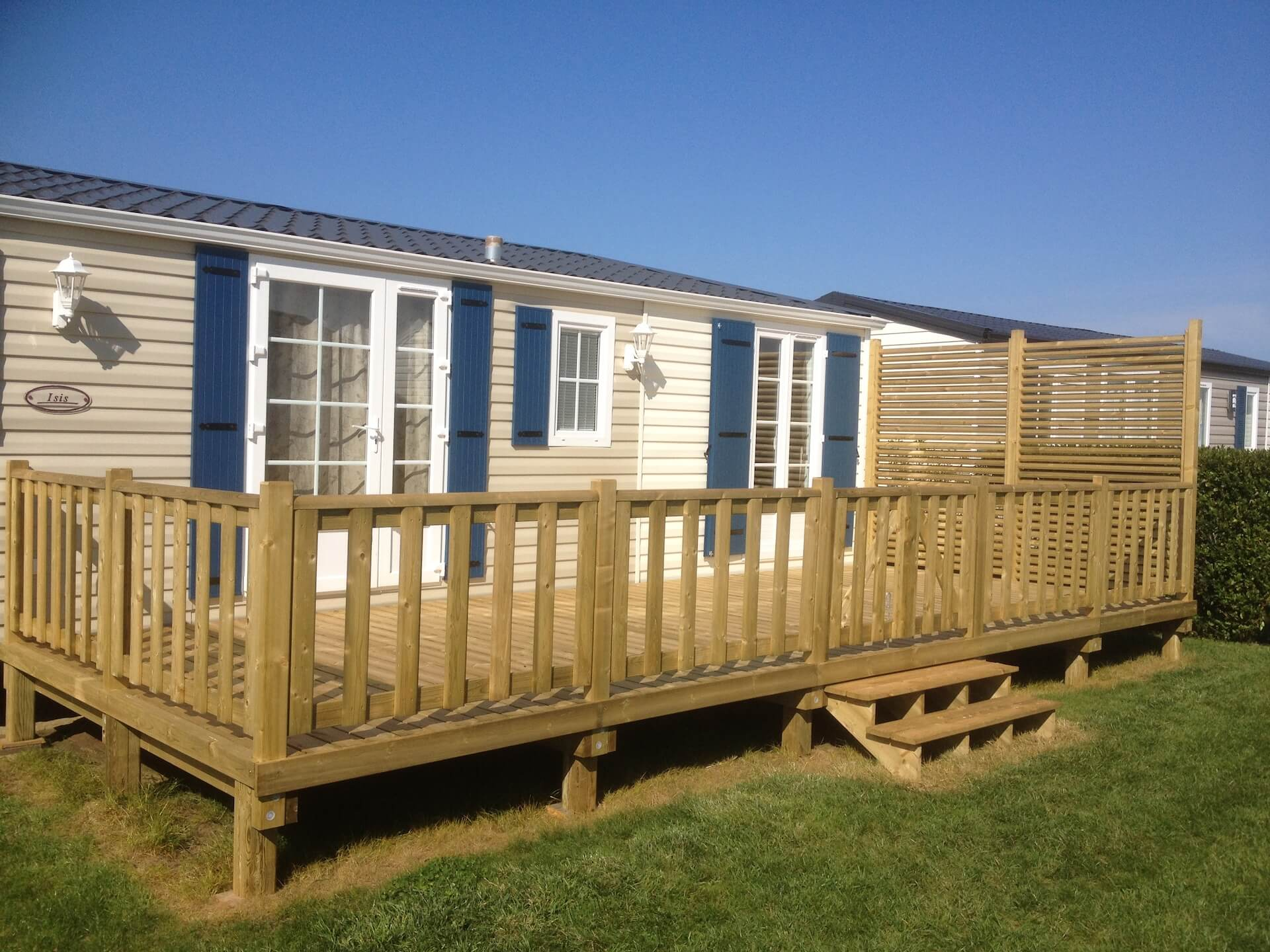 Terrasse pour mobil-home ISIS